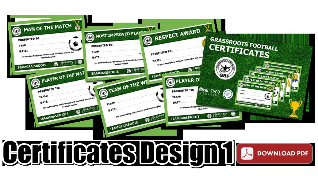 Certificates Team Grassroots